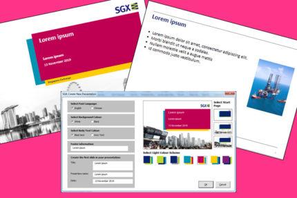 SGX presentation tool
