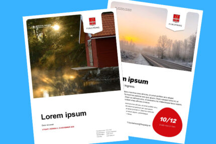 Mallar för affischer och informationsbrev